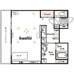 e−ハウス[1204号室]の間取り