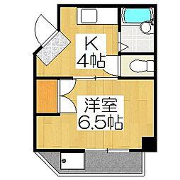 イーストハウス[208号室]の間取り