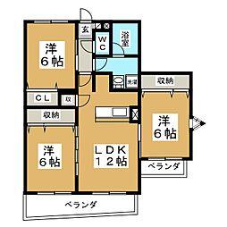 レジェンダ泉中央[5階]の間取り