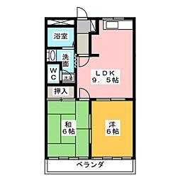 クレストールA棟[2階]の間取り