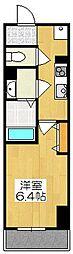 京都府京都市東山区東大路三条下る2筋目東入北木之元町の賃貸マンションの間取り