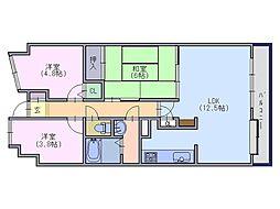 二階堂パークホームズ[6階]の間取り