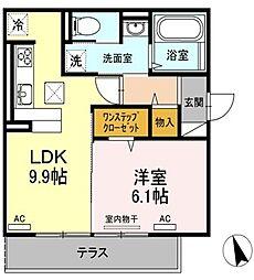 (仮)D−room沖浜町居屋敷[301号室]の間取り