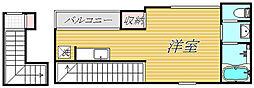 スタジオカルテット[2階]の間取り