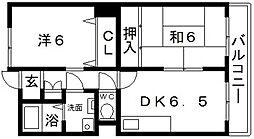 ハートフル21[2階]の間取り
