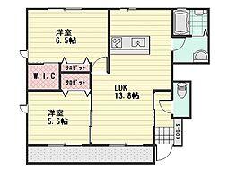 MASTガーデンヴィラSAKURA A棟[1階]の間取り