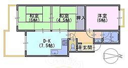 北前田マンション[201号室]の間取り