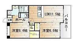 ベルステージ須賀町[8階]の間取り