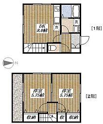 [テラスハウス] 東京都昭島市大神町1丁目 の賃貸【/】の間取り