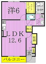 メゾンフレスクーラ[1階]の間取り