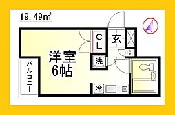 アークヴィレッジ湘南台 [デザイナーズ・家具家電付き][1階]の間取り