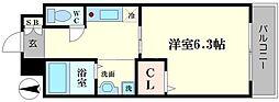 シェモア桜川[5階]の間取り