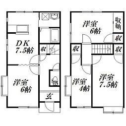 [テラスハウス] 静岡県浜松市南区御給町 の賃貸【/】の間取り