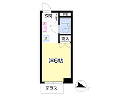 東京メトロ丸ノ内線 新大塚駅 徒歩6分の賃貸マンション 1階ワンルームの間取り