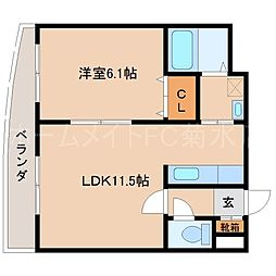 SEIRA東札幌[8階]の間取り
