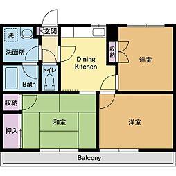 庭司苑5番館[3階]の間取り