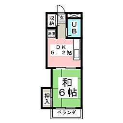 カーサ八幡[2階]の間取り