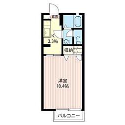 タウンハイツ東峰E[1階]の間取り