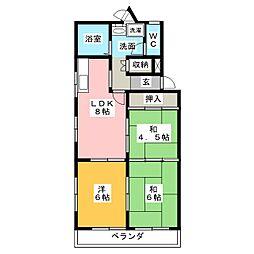 グリーンハイツ須崎[2階]の間取り