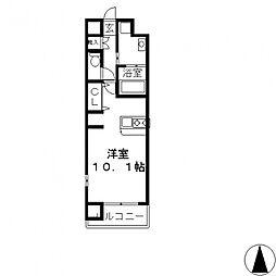 エクセルコート布施タワー[401号室号室]の間取り