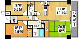 レクシア忍ヶ丘[3階]の間取り