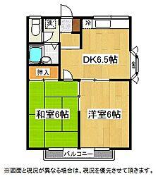 埼玉県鴻巣市登戸の賃貸アパートの間取り