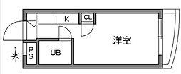 東京都調布市仙川町1丁目の賃貸マンションの間取り