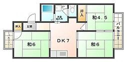 レジデンスビューII[2階]の間取り