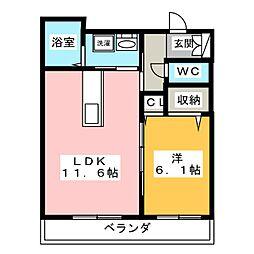 仮)シャーメゾン白石[2階]の間取り
