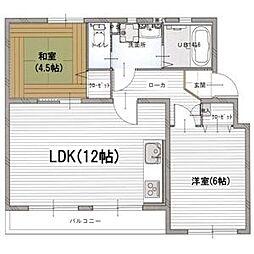 愛知県名古屋市緑区鳴海町字乙子山の賃貸マンションの間取り