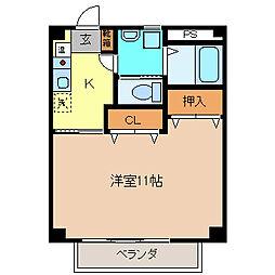 メゾン・ハピネスC棟[2階]の間取り