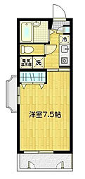 東京都大田区南雪谷2丁目の賃貸マンションの間取り