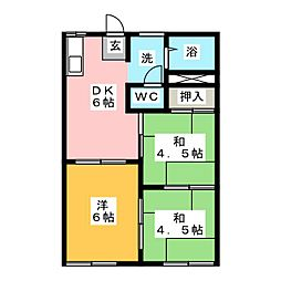 フォーブル松井[1階]の間取り