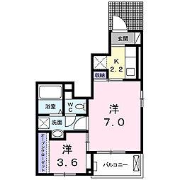サニーヒルレオI[1階]の間取り