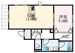 (仮称)堺市東区野尻町計画 2階1LDKの間取り