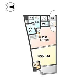 グラディーレ[5階]の間取り