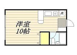 福岡県久留米市上津町の賃貸アパートの間取り