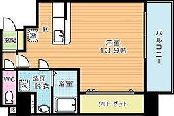 ドレスローズ[9階]の間取り