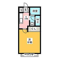 サン・friends下和田[1階]の間取り