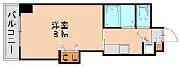 ベアージュ博多[5階]の間取り