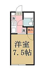 リノスタイル草加[105号室]の間取り
