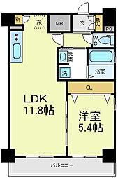 エステムプラザミッドプレイス[11階]の間取り