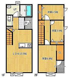 高栄東町新築物件[E号室]の間取り