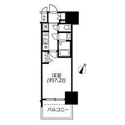 アドバンス名古屋モクシー 5階1Kの間取り