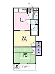 コーポカノマタ[2階]の間取り