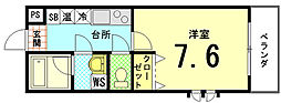 サニーハイツII[2-D号室]の間取り