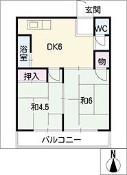 コーポ桜井[1階]の間取り
