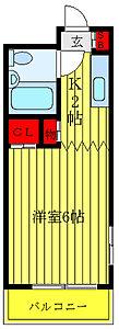 間取り,1K,面積18m2,賃料5.9万円,東京メトロ有楽町線 江戸川橋駅 徒歩4分,東京メトロ東西線 神楽坂駅 徒歩10分,東京都文京区水道2丁目