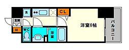 グランカリテ大阪城EAST 3階1Kの間取り