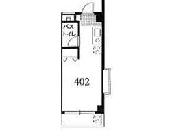 東洋第二ビル[4階]の間取り